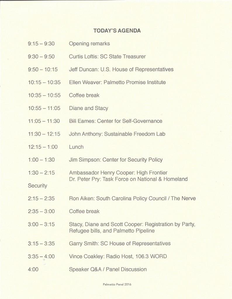 PP 2016 Schedule